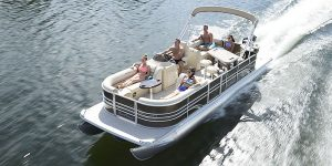 Pontoon Boat cruising