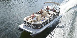Pontoon Boat cruising